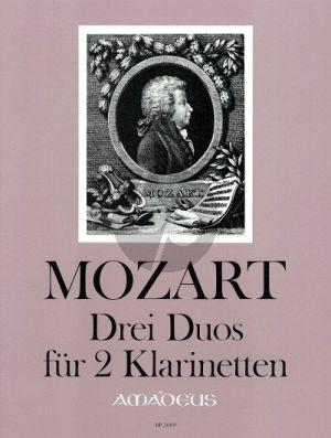 Mozart 3 Duos 2 Klarinetten Stimmen (Siegfried Beyer)
