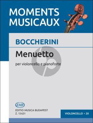 Boccherini Menuetto Violoncello and Piano (from Quintet A-major G.308)