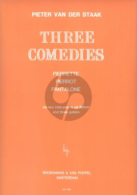 Staak 3 Comedies for 3 Guitars (with 2 melody instr. ad Lib.)
