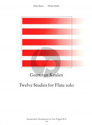 Keulen 12 Studies for Flute (advanced level) (dedicated to Paul Verhey)