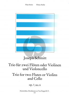 Schmitt Trio g-minor Op.7 No.6 2 Flutes[2 Vi.]-Violoncello (Parts) (edited by Rien de Reede)