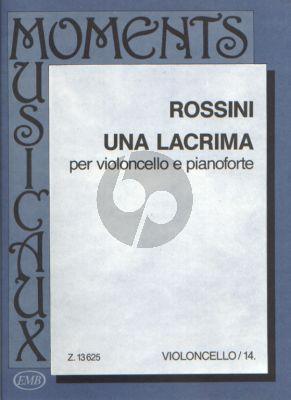 Rossini Una Lacrima Violoncello and Piano (edited by Árpád Pejtsik)