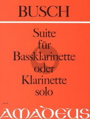 Busch Suite Opus 37a fur Bassclarinette oder Klarinette