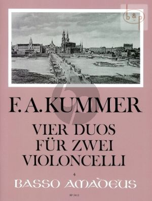 Kummer 4 Duos Op.103 2 Violoncellos (Parts) (edited by Eric Guignard)