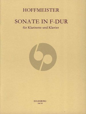 Hoffmeister Sonata F-major Clarinet and Piano (Gyorgy Balassa)