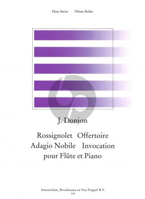 Album of 4 Pieces (Rossignol, Offertoire, Adagio Nobile and Invocation) Flute-Piano