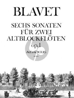 Blavet 6 Sonaten Opus 1 2 Altblockflöten (Yvonne Morgan)