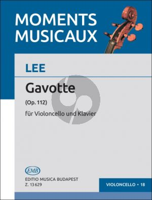 Lee Gavotte Opus 112 Violoncello and Piano (edited by Árpád Pejtsik)