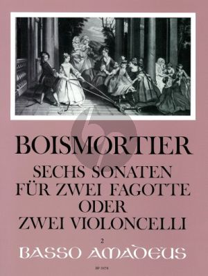 Boismortier 6 Sonaten Op.14 2 Bassoons or Violoncellos (Playing Score) (edited by Yvonne Morgan)