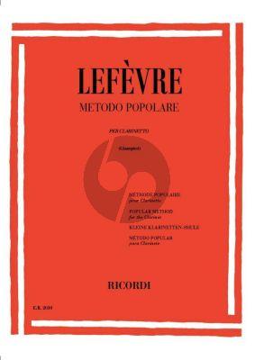 Lefevre Metodo Popolare per Clarinetto