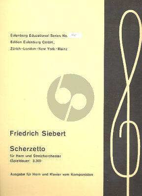Siebert Scherzetto Horn mit 8 Holzblaser Klavierauszug