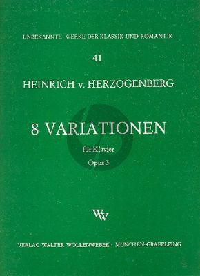 Herzogenberg 8 Variationen Op.3 Klavier