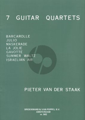 Staak 7 Guitar-Quartets (playing score)