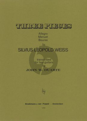 Weiss 3 Pieces for 2 Guitars (Arranged by John W. Duarte)