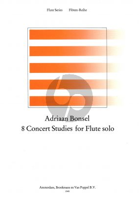 Bonsel 8 Concert Studies for Flute (1963) (Grade 3-4)