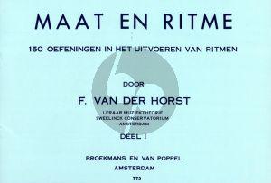 Horst Maat en Ritme deel 1 (150 Oefeningen in het uitvoeren van ritme)
