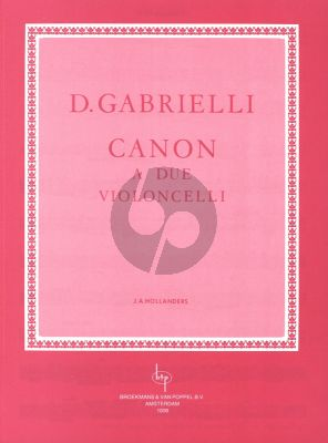 Gabrielli Canon for 2 Violoncellos (edited by Jan Hollanders)