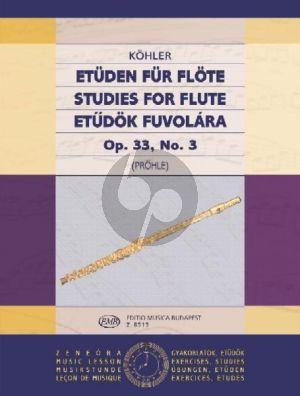 Kohler Studies Op.33 Vol.3 Flute (edited by Henrik Prőhle)