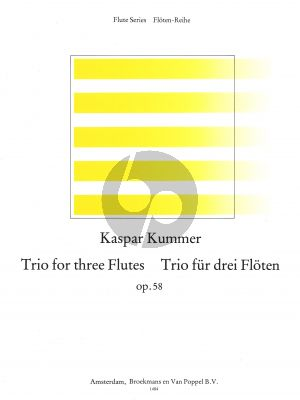 Kummer Trio Op.58 3 Flutes (Parts) (edited by Frans Vester)