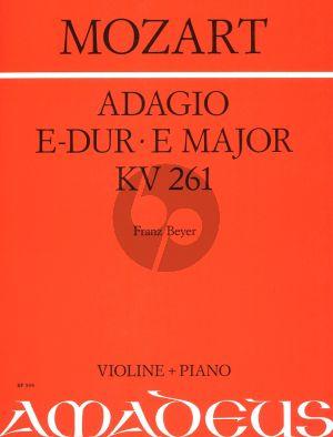 Mozart Adagio E-dur KV 261 Violine und klavier (Franz Beyer)