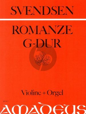 Svendsen Romanze G-dur Op.26 Violin and Orgel (Joachim Dorfmüller)