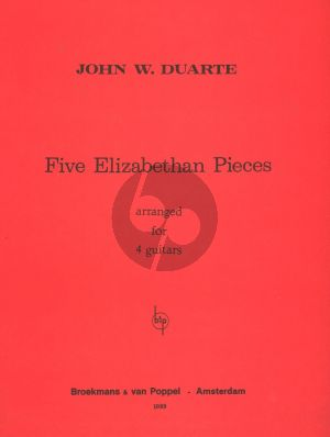 Duarte 4 Elizabethan Pieces for 4 Guitars (Playing Score)