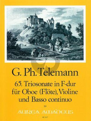 Telemann Trio Sonata F-major TWV 42:F4 Oboe[Rec./Fl.]-Violin-Bc