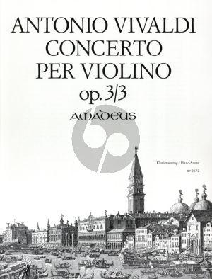 Vivaldi Concerto G-dur Op.3 No.3 RV 310 Violine-Streicher-Bc) fur Violine und Klavier (Herausgegeben von Felix Forrer)