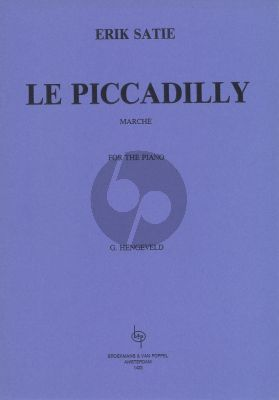 Satie Le Piccadilly (March) Piano solo