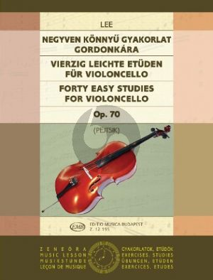 Lee 40 Easy Studies Op.70 Violoncello (Pejtsik) (EMB)
