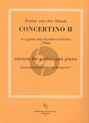 Staak Concertino II Guitar and Chamber Orchestra (piano red. by Gerard Hengeveld)
