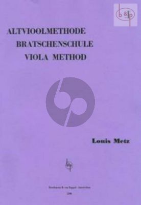 Metz Altvioolmethode / Method for Viola Vol.1 (Method also for Players without previous Violin Training (Archive print))