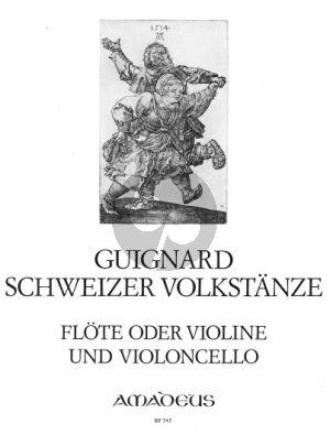 Guignard 9 Schweizer Volkstänze Flöte (Violine)-Violoncello