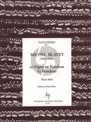 Blavet Gigue et Rondo Flute solo (edited by Frans Vester)