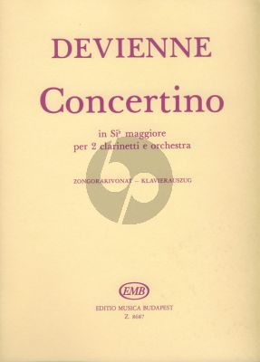 Devienne Concertino B-flat major Op.25 2 Clarinets and Orchestra (piano reduction) (György Balassa)