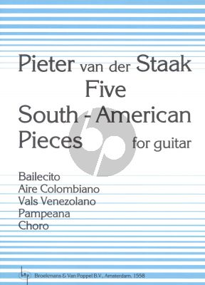Staak 5 South-American Pieces for Guitar