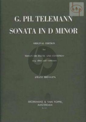 Sonata d-minor Violin[Flute/Oboe] and Bc