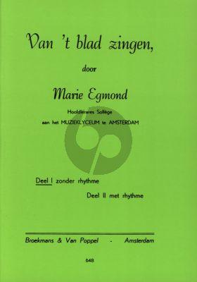 Egmond Van 't Blad Zingen Vol.1 Zonder Ritme /Without Rhythm