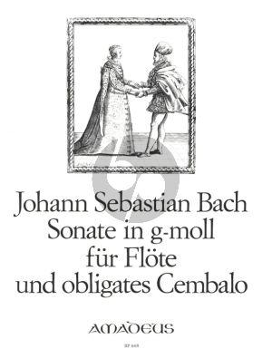 Bach Sonate g-moll BWV 1020 Flote mit Obligates Cembalo (Herausgegeben von Willy Hess)