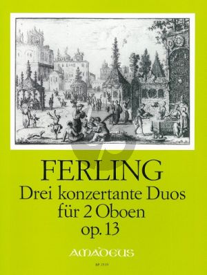 Ferling 3 Konzertante Duos Op.13 2 Oboes (Parts)
