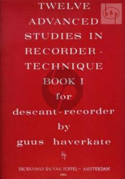12 Advanced Studies in Recorder Technique Vol.1