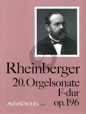 Rheinberger Sonate No.20 F-dur Opus 196 Orgel (Bernhard Billeter)