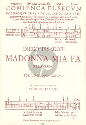 Pisador Madonna Mia Fa (Villanesca) Voice-Guitar (Pieter v.d Staak)