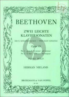 2 Easy Sonatas Op.49 No.1 G-minor and No.2 G-Major