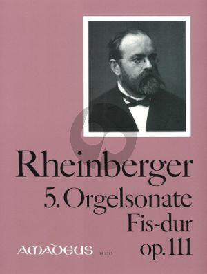 Rheinberger Sonate No. 5 Fis-dur Op.111 Orgel (Bernhard Billeter)