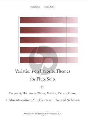 Album Variations of Favorite Themes (Furstenau, Hotteterre, Gunn, Tulou, Nicholson, Taillart a.o) Flute solo