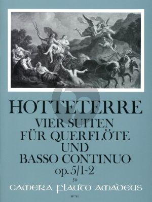 Hotteterre 4 Suiten Op.5 Vol.1 (No.1-2) Flöte (Oboe/Violine)-Bc (Oskar Peter)