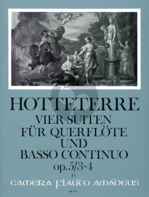 Hotteterre 4 Suiten Op.5 Vol.2 (No.3-4) Flöte (Oboe/Violine)-Bc (Oskar Peter)