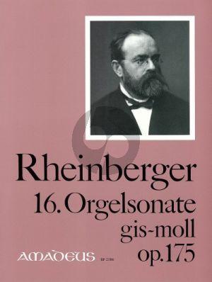 Rheinberger Sonate No.16 gis-moll Opus 175 Orgel (Bernhard Billeter)