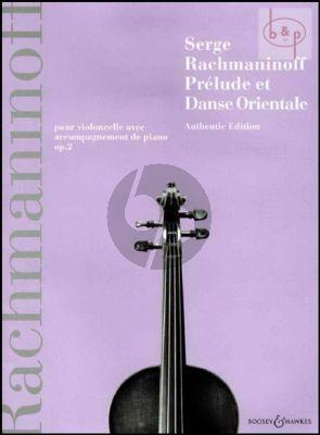 Prelude & Danse Orientale Op.2 cello-piano